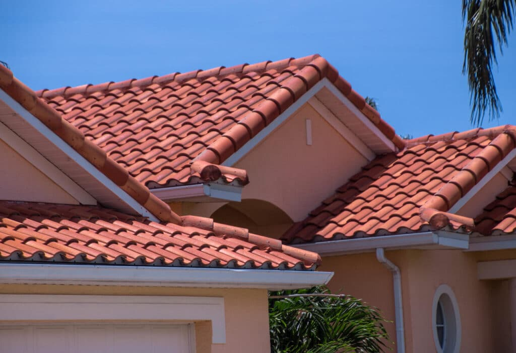 Red Spanish tile roof in Florida