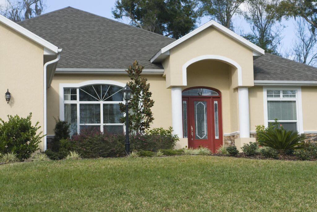 New reroof house with asphalt shingles