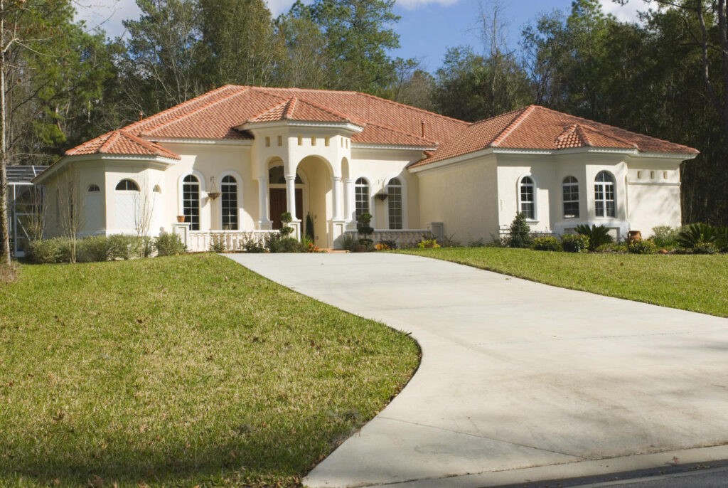 Hip style tile roof with lots of ridges and valleys